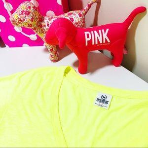 NWOT 🔥 VS PINK V Neck - Neon Citrus